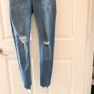 "Madewell 9"" high rise jeans"